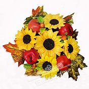 handmade. Livemaster - original item Sunflowers handmade soap gift flowers bouquet autumn. Handmade.