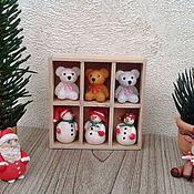 Куклы и игрушки handmade. Livemaster - original item Snowmen for dollhouse miniatures. Handmade.