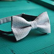 Аксессуары handmade. Livemaster - original item Tie Sophie / tie necktie white with gray polka dots. Handmade.