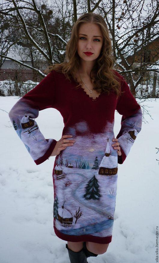 """Платья ручной работы. Ярмарка Мастеров - ручная работа. Купить Платье """"Зима. Татьянин день"""". Handmade. Платье нарядное"""