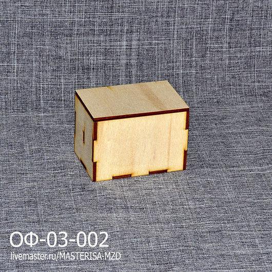 ОФ-03-002. Заготовка визитница со съемной крышкой. Благодаря перегородке внутри визитки стоят вертикально и их удобно доставать.