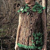 """Одежда ручной работы. Ярмарка Мастеров - ручная работа """"Лиственный лес"""" войлочный жилет. Handmade."""