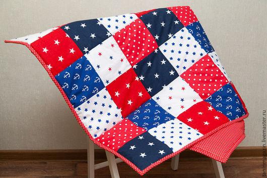 Пледы и одеяла ручной работы. Ярмарка Мастеров - ручная работа. Купить Лоскутное одеяло. Handmade. Разноцветный, морская тема, для детей