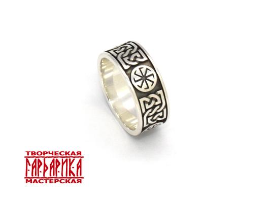 Славянское кольцо с обережными символами