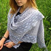 Аксессуары handmade. Livemaster - original item Summer stole in the style boho with lace trim