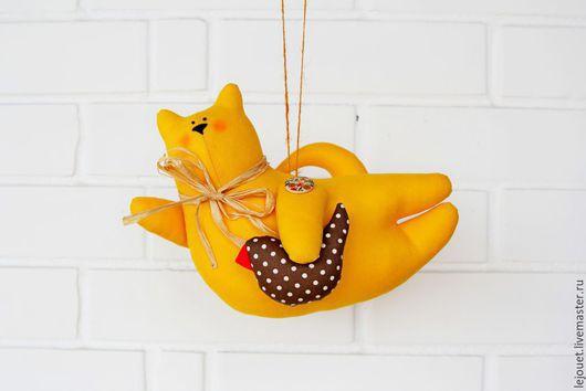 Куклы Тильды ручной работы. Ярмарка Мастеров - ручная работа. Купить Летящий Тильда кот. Handmade. Летящий тильда кот