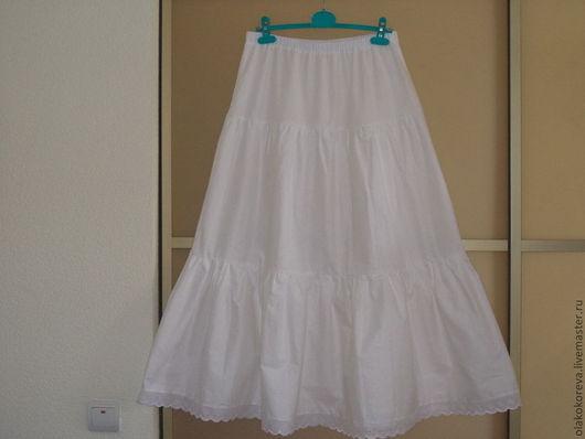 Юбки ручной работы. Ярмарка Мастеров - ручная работа. Купить Нижняя юбка 3 яруса. Handmade. Белый, белье, шитьё