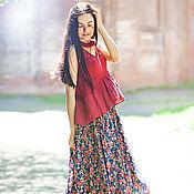 Одежда ручной работы. Ярмарка Мастеров - ручная работа Юбка цветная из батиста. Handmade.