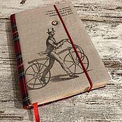 Блокноты ручной работы. Ярмарка Мастеров - ручная работа Блокнот «Дядечка на велосипеде». Handmade.