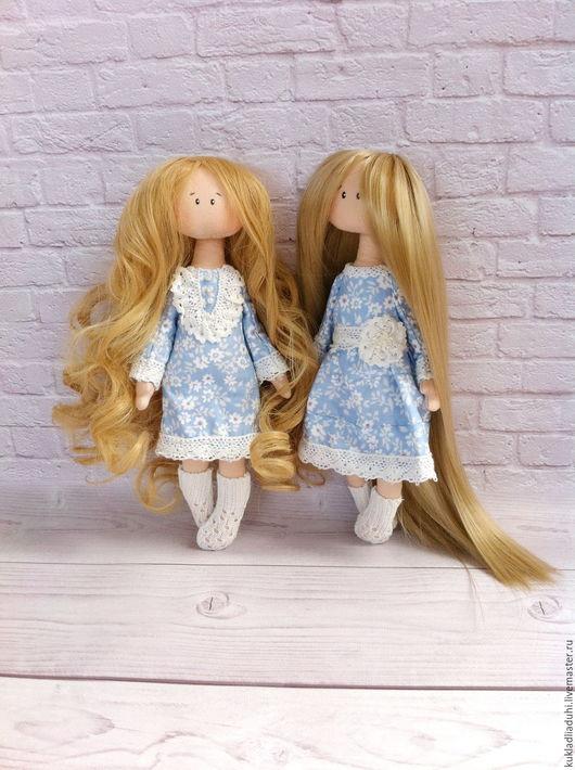 Коллекционные куклы ручной работы. Ярмарка Мастеров - ручная работа. Купить Рапунцель и Виктория,интерьерные куклы. Handmade. Голубой