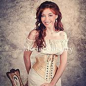 Одежда ручной работы. Ярмарка Мастеров - ручная работа Корсет под грудь исторический из шелка. Handmade.