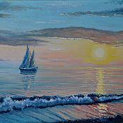 """Картины и панно ручной работы. Ярмарка Мастеров - ручная работа """"Море. Штиль"""". Handmade."""