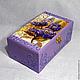 """Шкатулки ручной работы. Ярмарка Мастеров - ручная работа. Купить Шкатулка """"Фиолетовый цветок"""". Handmade. Декупаж, шкатулка для рукоделия, цветок"""