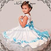 Работы для детей, handmade. Livemaster - original item Baby dress Blue ribbon 2in1 Art.185. Handmade.