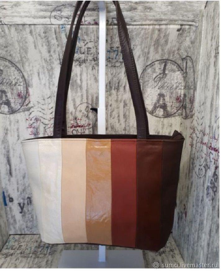 Bag genuine leather patchwork, Classic Bag, Zvenigorod,  Фото №1