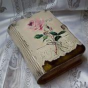 Для дома и интерьера ручной работы. Ярмарка Мастеров - ручная работа Шкатулка-книга Роза, декупаж, шебби. Handmade.