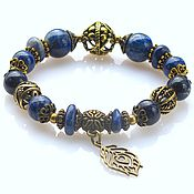 Украшения handmade. Livemaster - original item Б15 Bracelet with lapis-lazuli. Handmade.