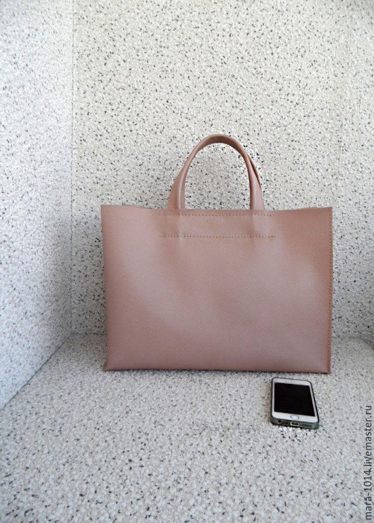 0a49ca937c97 ДЫМЧАТАЯ РОЗА сити, кожаная сумка, шопер, розовый saffiano. Женские сумки  ручной работы. Ярмарка Мастеров - ручная работа. Купить ...