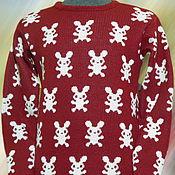 Одежда ручной работы. Ярмарка Мастеров - ручная работа Тату-свитер - Зайцы. Handmade.