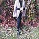Верхняя одежда ручной работы. Пальто - накидка  кейп. Анжелика (yesido). Интернет-магазин Ярмарка Мастеров. Бежевый, пальто из шерсти
