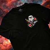 Мужская одежда handmade. Livemaster - original item Hand-painted Star Wars T-shirt