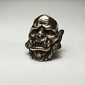 Субкультуры handmade. Livemaster - original item Bronze bead for paracord or leather bracelets. Handmade.