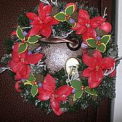 Для дома и интерьера ручной работы. Ярмарка Мастеров - ручная работа Рождественский Веночек на дверь. Handmade.