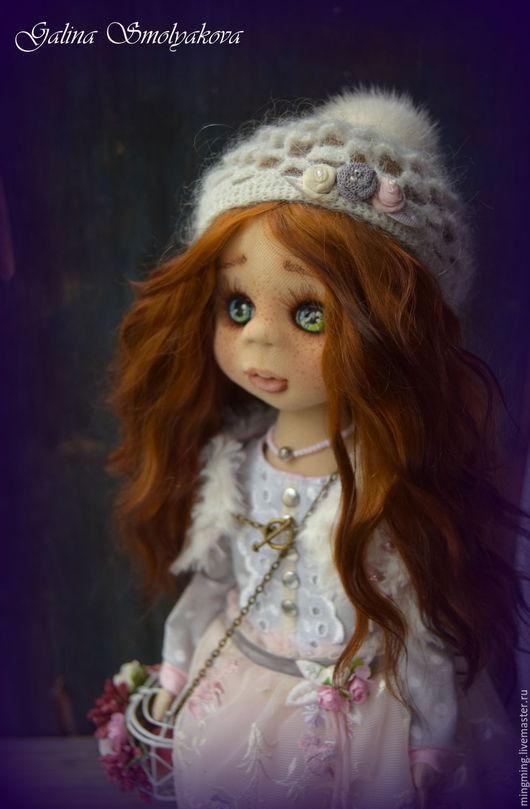 Коллекционные куклы ручной работы. Ярмарка Мастеров - ручная работа. Купить Эйприл. Handmade. Бледно-розовый, хлопок, Дуб