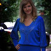 Одежда ручной работы. Ярмарка Мастеров - ручная работа Вязаный ажурный костюм юбка и блузка. Handmade.