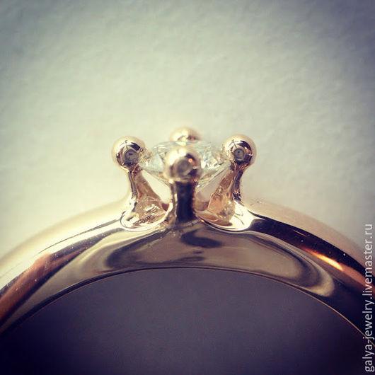 Кольца ручной работы. Ярмарка Мастеров - ручная работа. Купить Кольцо с бриллиантом 0,26. Handmade. Золотой, Бриллиант