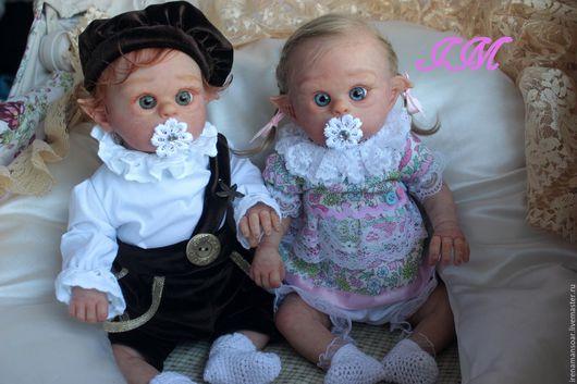 Куклы-младенцы и reborn ручной работы. Ярмарка Мастеров - ручная работа. Купить Эльфики Фенечка и Филипок. Handmade. Бледно-розовый