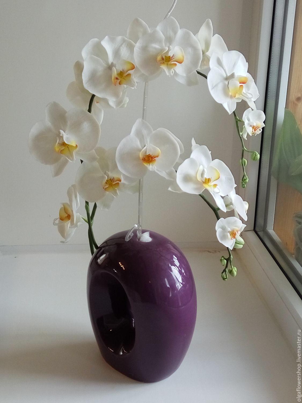 Орхидея из полимерной глины, , Тюмень, Фото №1