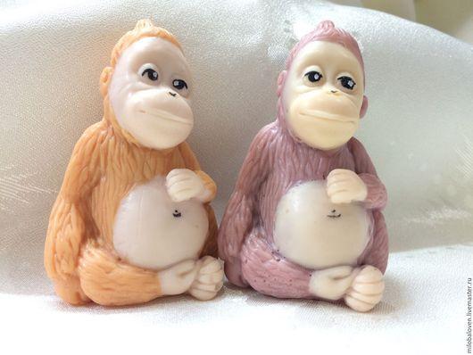 """Мыло ручной работы. Ярмарка Мастеров - ручная работа. Купить Сувенирное мыло """"Обезьянка"""". Handmade. Рыжий, молочный, обезьянка"""