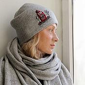 Аксессуары handmade. Livemaster - original item Hat-scarf set
