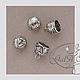 """Для украшений ручной работы. Концевик колпачки шапочка для  жгута """"Лилия"""" серебро, золото, бронза. GalA beads. Интернет-магазин Ярмарка Мастеров."""