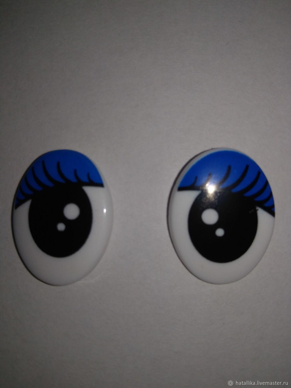 Глазки для игрушек пластиковые рисованные овальные Г29-30, Фурнитура, Мытищи, Фото №1