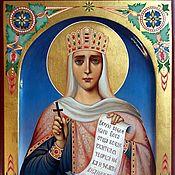 Картины и панно handmade. Livemaster - original item Holy Princess Olga.Name icon. Handmade.