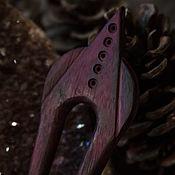 Украшения ручной работы. Ярмарка Мастеров - ручная работа Заколка purple heart. Handmade.