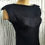 Одежда handmade. Livemaster - original item MG_013_1 t-shirt with Bat on chest, color black.. Handmade.