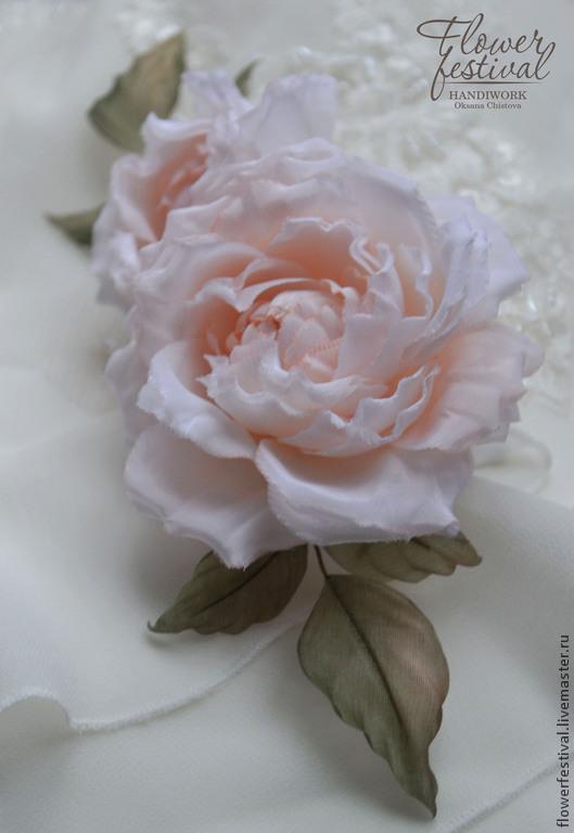 """Цветы ручной работы. Ярмарка Мастеров - ручная работа. Купить Розы из шелка в прическу """"Bel Ange"""". Цветы из ткани. Handmade."""