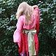 Этническая одежда ручной работы. Ярмарка Мастеров - ручная работа. Купить Кимоно «Порфировый ветер». Handmade. Япония, ручная роспись