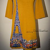 """Одежда ручной работы. Ярмарка Мастеров - ручная работа Платье """"Париж"""" охра.. Handmade."""