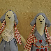 Куклы и игрушки ручной работы. Ярмарка Мастеров - ручная работа игрушка кролик Тильда. Handmade.