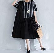 Одежда handmade. Livemaster - original item summer combined dress made of natural fabrics. Handmade.