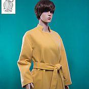 Одежда handmade. Livemaster - original item Stylish coat with belt