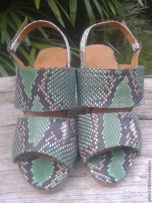 Обувь ручной работы. Ярмарка Мастеров - ручная работа. Купить Босоножки из кожи питона SARA. Handmade. Туфли, туфли из питона