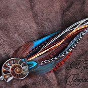 Украшения handmade. Livemaster - original item pendant feather with ammonite.. Handmade.