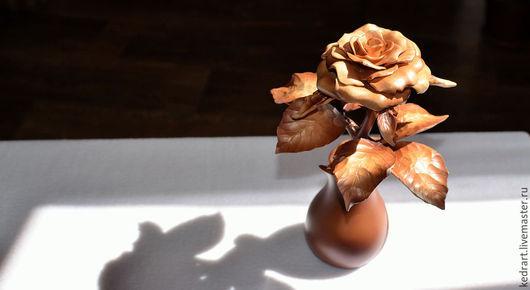 Цветы ручной работы. Ярмарка Мастеров - ручная работа. Купить Роза. Handmade. Резьба по дереву, сувениры ручной работы, цветок
