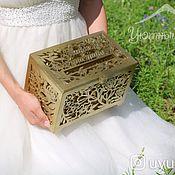 Свадебный салон handmade. Livemaster - original item Wooden carved wedding chest. Handmade.
