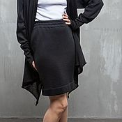 Одежда handmade. Livemaster - original item GGA_017 pencil Skirt is straight, length 50cm, color black. Handmade.